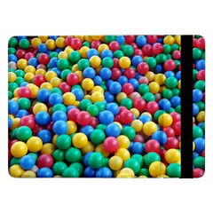 Funny Colorful Red Yellow Green Blue Kids Play Balls Samsung Galaxy Tab Pro 12 2  Flip Case by yoursparklingshop