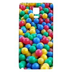 Funny Colorful Red Yellow Green Blue Kids Play Balls Galaxy Note 4 Back Case by yoursparklingshop