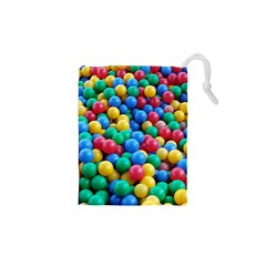 Funny Colorful Red Yellow Green Blue Kids Play Balls Drawstring Pouches (xs)  by yoursparklingshop