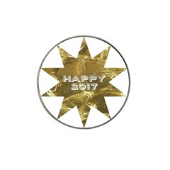 Happy New Year 2017 Gold White Star Hat Clip Ball Marker (4 Pack) by yoursparklingshop