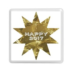 Happy New Year 2017 Gold White Star Memory Card Reader (square)  by yoursparklingshop