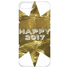 Happy New Year 2017 Gold White Star Apple Iphone 5 Classic Hardshell Case by yoursparklingshop