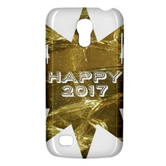 Happy New Year 2017 Gold White Star Galaxy S4 Mini by yoursparklingshop
