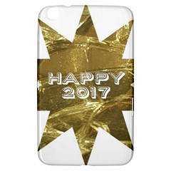 Happy New Year 2017 Gold White Star Samsung Galaxy Tab 3 (8 ) T3100 Hardshell Case  by yoursparklingshop
