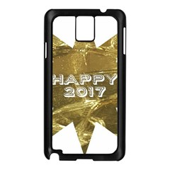 Happy New Year 2017 Gold White Star Samsung Galaxy Note 3 N9005 Case (black) by yoursparklingshop