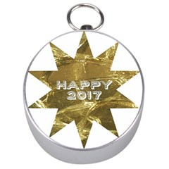 Happy New Year 2017 Gold White Star Silver Compasses by yoursparklingshop