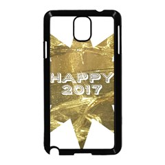 Happy New Year 2017 Gold White Star Samsung Galaxy Note 3 Neo Hardshell Case (black) by yoursparklingshop