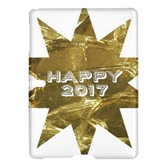 Happy New Year 2017 Gold White Star Samsung Galaxy Tab S (10 5 ) Hardshell Case  by yoursparklingshop