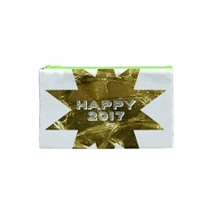 Happy New Year 2017 Gold White Star Cosmetic Bag (xs) by yoursparklingshop
