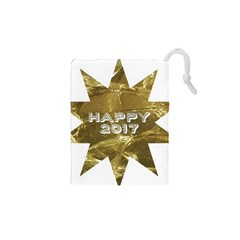 Happy New Year 2017 Gold White Star Drawstring Pouches (xs)  by yoursparklingshop