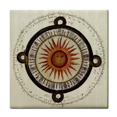 Ancient Aztec Sun Calendar 1790 Vintage Drawing Tile Coasters by yoursparklingshop