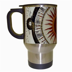 Ancient Aztec Sun Calendar 1790 Vintage Drawing Travel Mugs (white) by yoursparklingshop