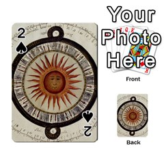 Ancient Aztec Sun Calendar 1790 Vintage Drawing Playing Cards 54 Designs  by yoursparklingshop