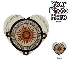 Ancient Aztec Sun Calendar 1790 Vintage Drawing Multi Purpose Cards (heart)  by yoursparklingshop