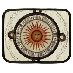 Ancient Aztec Sun Calendar 1790 Vintage Drawing Netbook Case (xxl)  by yoursparklingshop