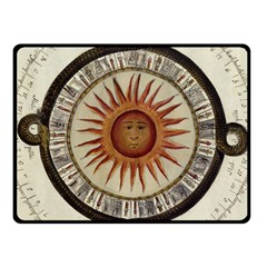 Ancient Aztec Sun Calendar 1790 Vintage Drawing Fleece Blanket (small) by yoursparklingshop