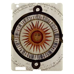 Ancient Aztec Sun Calendar 1790 Vintage Drawing Apple Ipad 3/4 Hardshell Case by yoursparklingshop