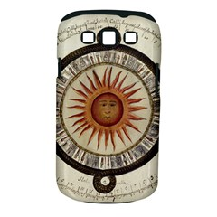 Ancient Aztec Sun Calendar 1790 Vintage Drawing Samsung Galaxy S Iii Classic Hardshell Case (pc+silicone) by yoursparklingshop