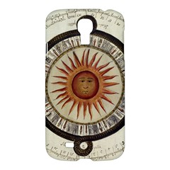 Ancient Aztec Sun Calendar 1790 Vintage Drawing Samsung Galaxy S4 I9500/i9505 Hardshell Case by yoursparklingshop