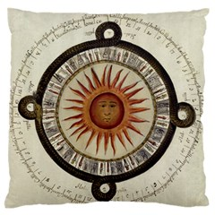 Ancient Aztec Sun Calendar 1790 Vintage Drawing Standard Flano Cushion Case (two Sides)
