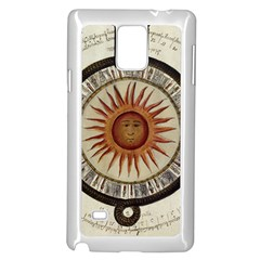 Ancient Aztec Sun Calendar 1790 Vintage Drawing Samsung Galaxy Note 4 Case (white) by yoursparklingshop