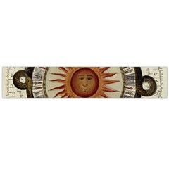 Ancient Aztec Sun Calendar 1790 Vintage Drawing Flano Scarf (large) by yoursparklingshop