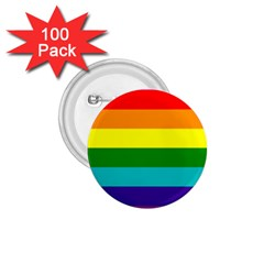 Colorful Stripes Lgbt Rainbow Flag 1 75  Buttons (100 Pack)  by yoursparklingshop