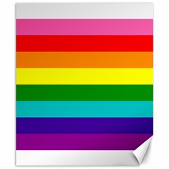 Colorful Stripes Lgbt Rainbow Flag Canvas 8  X 10  by yoursparklingshop