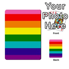 Colorful Stripes Lgbt Rainbow Flag Multi Purpose Cards (rectangle)  by yoursparklingshop
