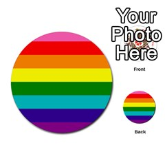Colorful Stripes Lgbt Rainbow Flag Multi Purpose Cards (round)  by yoursparklingshop