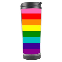 Colorful Stripes Lgbt Rainbow Flag Travel Tumbler by yoursparklingshop