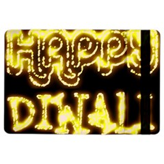 Happy Diwali Yellow Black Typography Ipad Air 2 Flip by yoursparklingshop