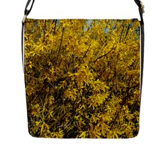 Nature, Yellow Orange Tree Photography Flap Messenger Bag (l)  by yoursparklingshop