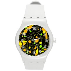 Floating Round Plastic Sport Watch (m) by Valentinaart