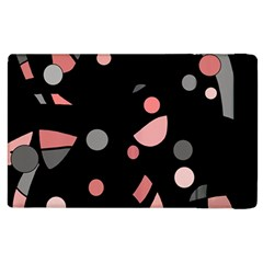 Pink And Gray Abstraction Apple Ipad 3/4 Flip Case by Valentinaart