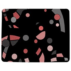 Pink And Gray Abstraction Jigsaw Puzzle Photo Stand (rectangular) by Valentinaart