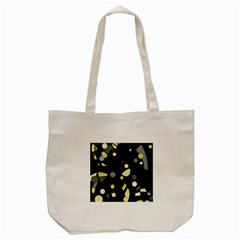 Yellow And Gray Abstract Art Tote Bag (cream) by Valentinaart
