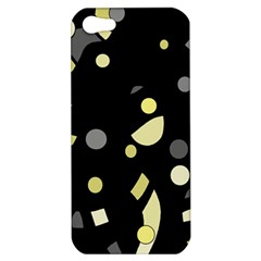 Yellow And Gray Abstract Art Apple Iphone 5 Hardshell Case by Valentinaart
