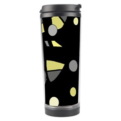 Yellow And Gray Abstract Art Travel Tumbler