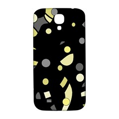 Yellow And Gray Abstract Art Samsung Galaxy S4 I9500/i9505  Hardshell Back Case by Valentinaart
