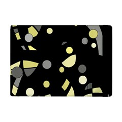 Yellow And Gray Abstract Art Ipad Mini 2 Flip Cases by Valentinaart