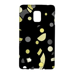 Yellow And Gray Abstract Art Galaxy Note Edge by Valentinaart