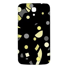 Yellow And Gray Abstract Art Samsung Galaxy Mega I9200 Hardshell Back Case by Valentinaart