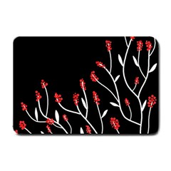 Elegant Tree 2 Small Doormat  by Valentinaart