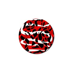 Red Chaos Golf Ball Marker by Valentinaart