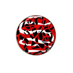 Red Chaos Hat Clip Ball Marker by Valentinaart