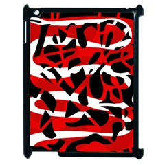 Red Chaos Apple Ipad 2 Case (black) by Valentinaart