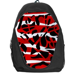 Red Chaos Backpack Bag by Valentinaart