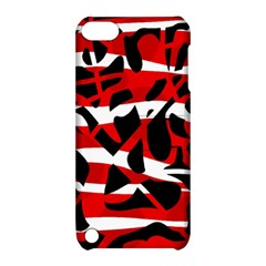 Red Chaos Apple Ipod Touch 5 Hardshell Case With Stand by Valentinaart