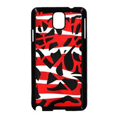 Red Chaos Samsung Galaxy Note 3 Neo Hardshell Case (black) by Valentinaart
